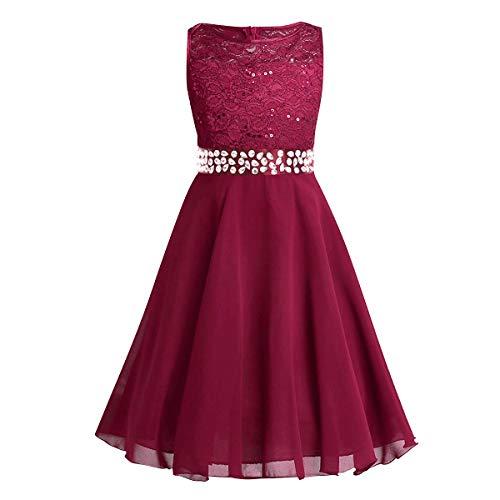 wine red girl dresses - 9