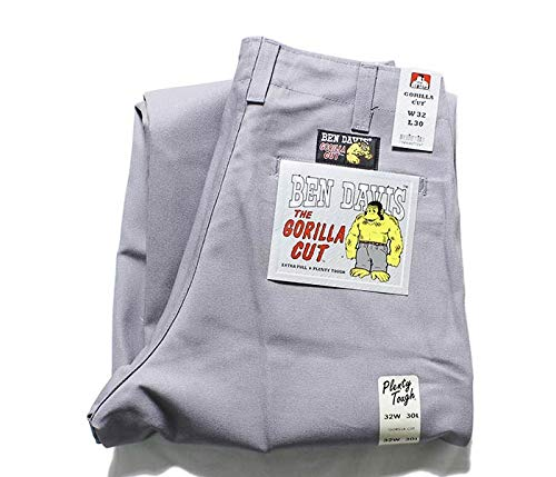 [ベンデイビス] ロングパンツ ゴリラカット チノパン ワークパンツ 極太 ワイドストレート GORILLA CUT PANTS (BDUS-5700-GORILLA-CUT) メンズ 30 3.ライトグレー(LZ)