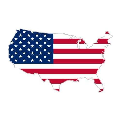 USA America Map Shape and Flag Design Money Clip