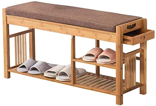 Zapatos de madera maciza Banco de almacenamiento de las heces Porche Inicio de zapatos zapatero bastidor Banco de Almacenaje otomanos Nivel de zapatos plataforma de almacenamiento del dormitorio Tabur