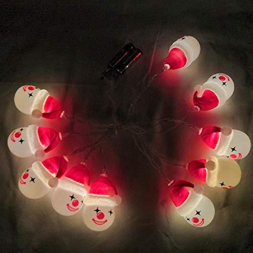 Luces de Navidad Cadena de LED Papá Noel Muñeco de nieve de Navidad Luces de modelado Sala de festival Luces decorativas