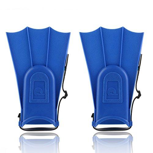 Pixnor verstellbare Flossen für Kinder, Schwimmenflossen, Schwimmen, Tauchen, Lernutensilien (blau)