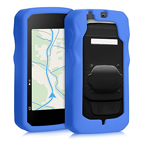 kwmobile Hülle kompatibel mit Bryton Rider 750 - Silikon GPS Fahrrad Hülle Schutzhülle - in Blau