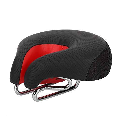 Maxmartt Ergonomic Mountain Bike Cycling Bicycle Noseless Shape Saddle Cushion Pad Seat Red