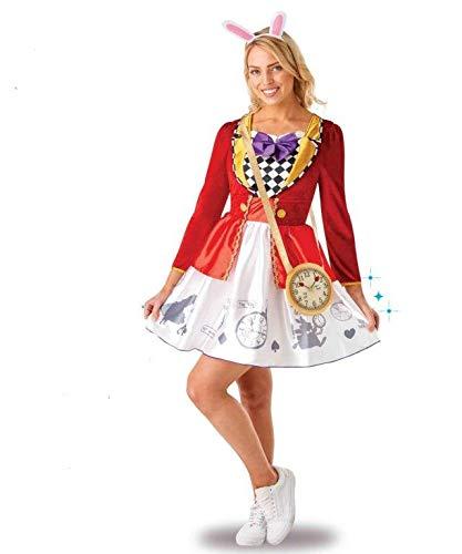 Rubie's, costume ufficiale Disney Alice nel Paese delle Meraviglie, costume da donna, tema festa del libro, settimana e tè, taglia L