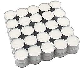 POFET Lot de 100 bougies chauffe-plat en aluminium pour fabrication de bougies chauffe-plat