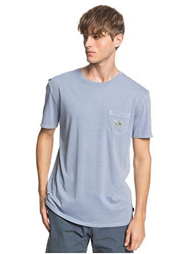 Quiksilver Herren Sub Mission - Taschen-T-Shirt für Männer Screen Tee, Stone wash, M