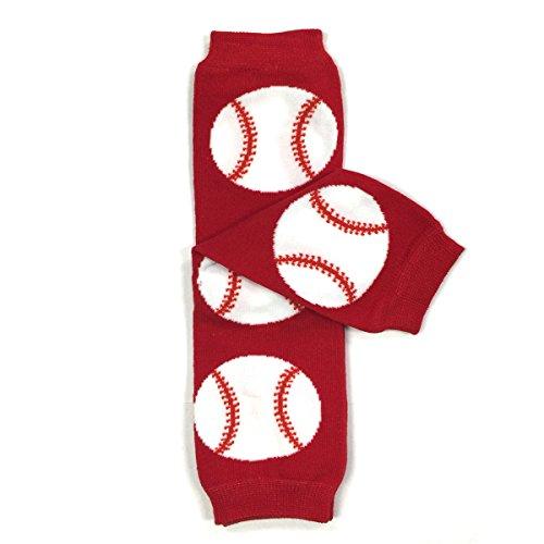Baseball baby leg warmers