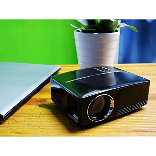HongLianRiven Proyector portátil, Negro - 1800 lúmenes - resolución de 800x480 -...