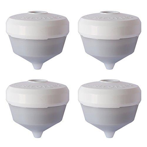 Siroflex 2805/4S - Juego de 4 cartuchos de repuesto UNI 3-B reductor de dureza de agua, purificador de agua universal, grifo para cocina Eliminación de cloro con filtro de carbón activo.