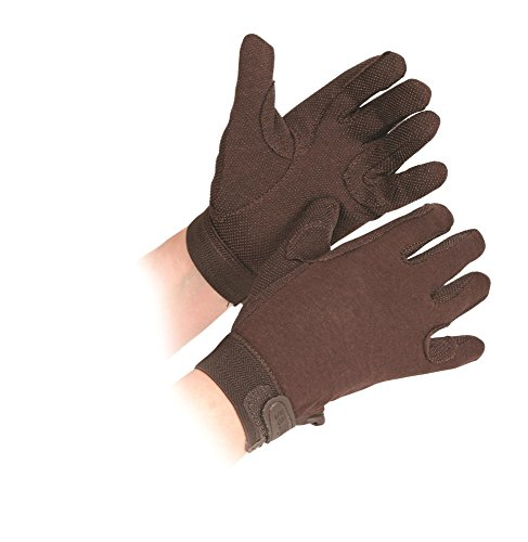 Shires Newbury Childs Kids Cotton Gloves Brown Small