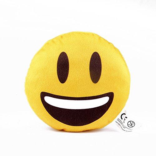 EAST-WEST Trading GmbH Mini Emoticon-Kissen Emoticon Smile, Mitbringsel, Knuddelkissen, Anti-Stress Knautschkissen