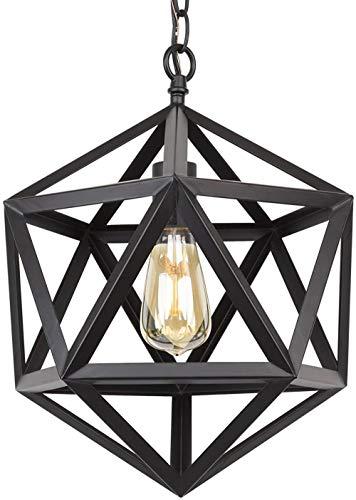 Smeedijzeren geometrische hanglamp eetbar gangpad woonkamer slaapkamer smeedijzeren kroonluchter, zwart
