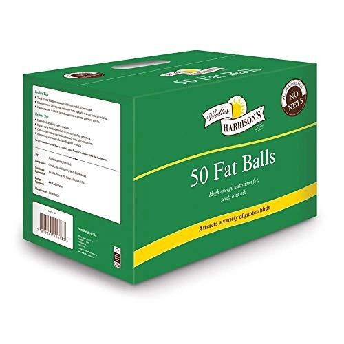 Harrisons Wild Bird Premium Fat Balls x 50 High Energy Food For The Winter