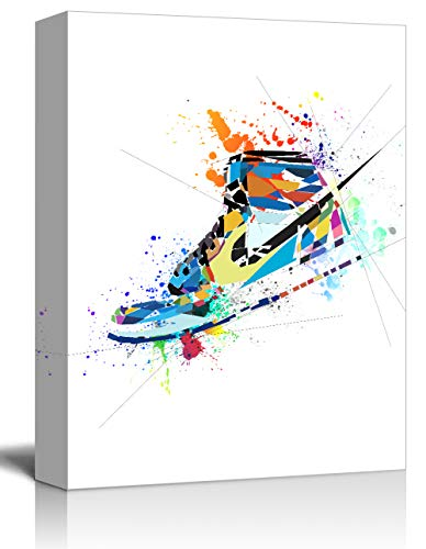 Gym Shoes Canvas Art Sports Themed …