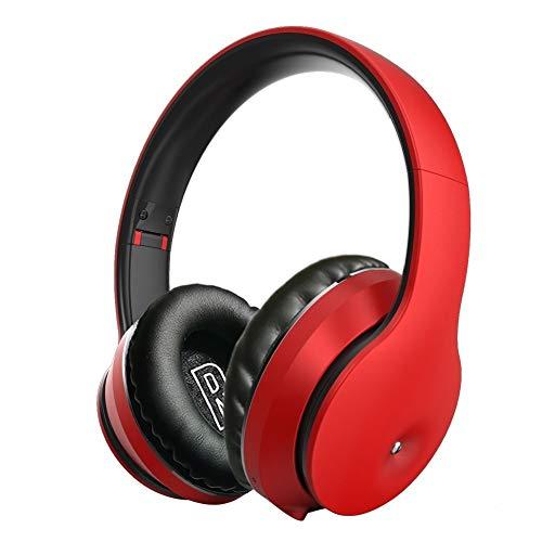 Dmtrab para Auriculares Bluetooth V5.0 inalámbricos B5 (Oro Negro) (Color : Red)