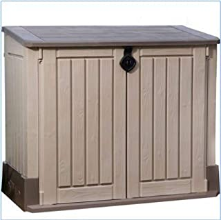 Plastic Outdoor Storage, Shed - 30-Cu.Ft., Color Beige/Taupe