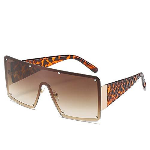 NBJSL Gafas De Sol Para Mujer Gafas De Sol Cuadradas De Gran Tamaño 152Mm (Exquisita Caja De Embalaje)