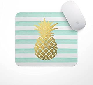 Mint Pineapple Mousepad   Pineapple Mouse Pad, Pineapple Planner Accessories, Glitz Mouse Pad Mint and White Stripes Watercolor Mouse Pad, Pineapple Office Accessories