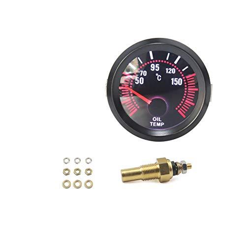 Auto Elektrotechnik Wasser Öltemperaturanzeige 12V LED Dc Digitalanzeige Öltemperaturmesser für Auto-Motorrad-LKW-Boot 1pc