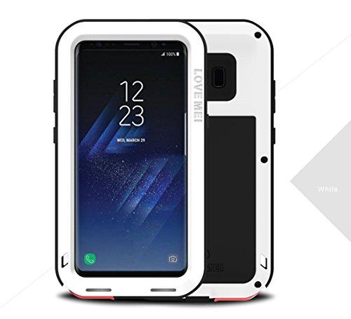 """Samsung S8 Plus Funda, Love mei Poderosa armadura del metal de aluminio a prueba de golpes Snowproof Cubierta Carcasa Hermética al polvo para el Samsung Galaxy S8 Plus 6.2"""" (blanco)"""