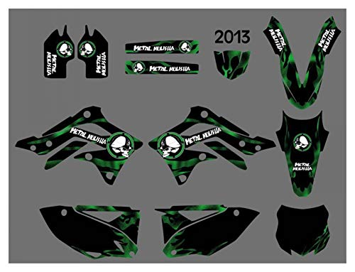 XIAOZHIWEN Motorcycle Graphics Background Decal Sticker Kit For Kawasaki KX450F KXF450 2013 Universal