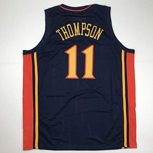 Unsigned Klay Thompson Golden State Retro Dark Blue Custom Stitched Basketball Jersey Size Men's XL New No Brands/Logos
