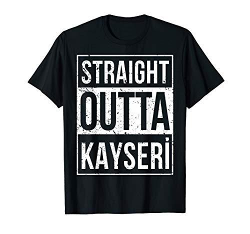 STRAIGHT OUTTA Kayseri 38 Memleket Türkei Geschenkidee T-Shirt