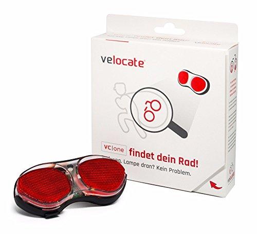 velocate vc|one Fahrrad GPS Tracker mit App I GPS Fahrrad Rücklicht gegen Diebstahl I Fahrradbeleuchtung mit GPS Ortung I GPS Bike Tracker mit Bluetooth Nahortung I Europaweiter Tracking Service 1 Jahr