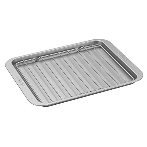 Cuisinart AMB-TOBPRK Toaster Oven Broiling Pan w/ Rack, silver, 11.2