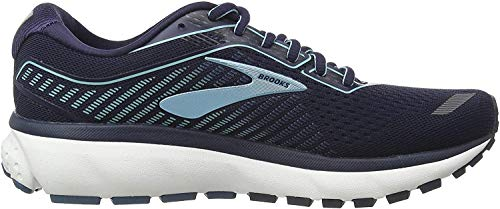 Brooks Women's Ghost 12 Running Shoe, Navy/Stellar/Blue, 3 UK