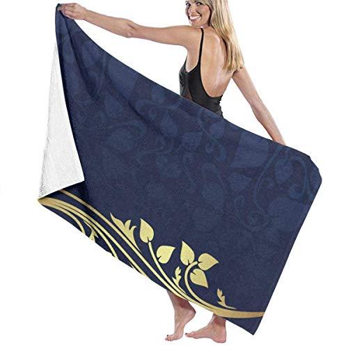 WKLNM Premium badhanddoeken wasdoeken voor thuis, hotel, spa, zwembad Gym - Romantische Royal Leaf Handdoeken, Zachte & Absorbens douche badhanddoek Oversized vrouwen Wrap - 32x51 inch
