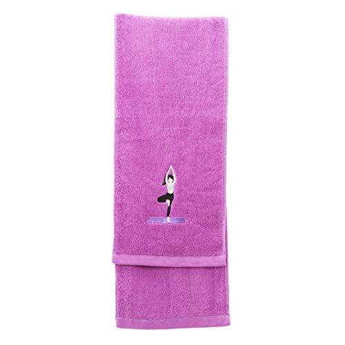 Fliyeong 5 colores para correr, deportes, gimnasio, algodón, toalla gruesa, suministros deportivos, toalla de gimnasio, color morado, duradera y útil