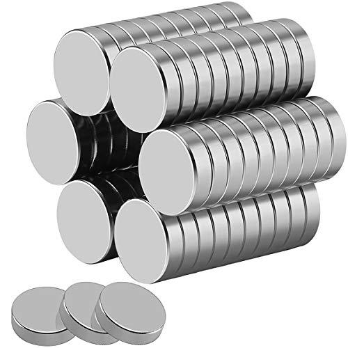 Wukong 30 piezas Magnet Redondo Magnético Estupendo,para Nevera, científica, Manualidades, Bricolaje, 15x4 mm