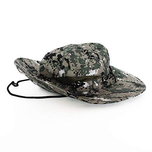 Fischerhüte Angeln Hüte Breathable Tactical Airsoft Sniper Camouflage Boonie Hüte Nepalese Cap Militares Army Mens Bucket Hat Militär Wandern Hüte @ Digital_Green