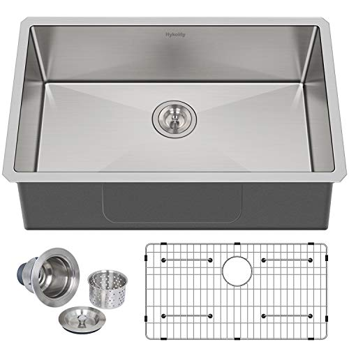 Hykolity 32-inch Kitchen Sink, 16 Gauge Undermount Single Bowl...