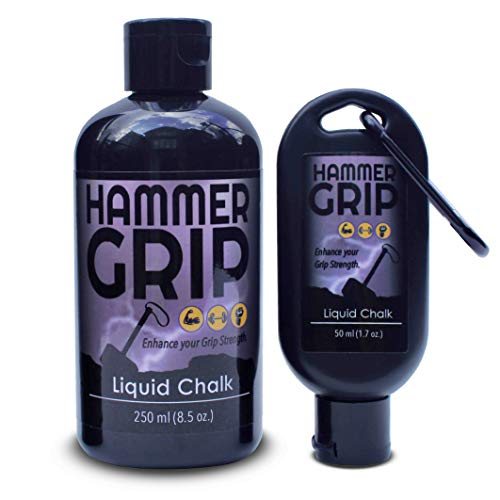 Hammer Grip Liquid Chalk – Ideal for Weightlifting, Gymnastics, Rock Climbing, Bowling, Gaming, Many More (50 ml)