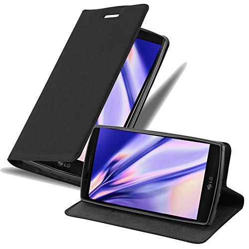 Cadorabo Hülle für LG Flex 2 - Hülle in Nacht SCHWARZ – Handyhülle mit Magnetverschluss, Standfunktion & Kartenfach - Case Cover Schutzhülle Etui Tasche Book Klapp Style