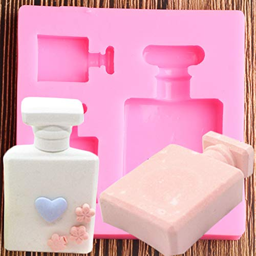 N/ A 3D Perfume Bottle Silicone Molds Fondant Cake Decorating Tools Candy Chocolate Gumpaste Mould Resin Clay Soap Moulds