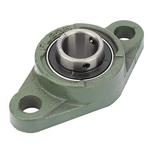 Cojinete de bloque de almohada, Cojinete de acero con cojinete rómbico montado auto alineado 25.4mm/25mm I.D Brida Cojinete de bloque de almohada(UCFL205-16)