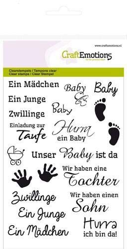 CraftEmotions clearstamps A6 - text DE Baby