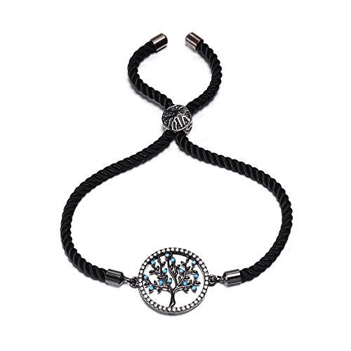 ShFhhwrl Hand Bangle Bracelets Jewellery For Womens Zircon Round Charm Bracelet Slider Adjustable Braided Bracelets & Bangles For