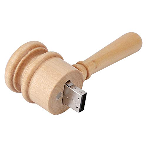 U Disk, pen drive USB 2.0 Flash Drive, pequeno martelo de madeira Forma única produtos digitais modernos Disco USB USB tradicional armazenamento de dados de artesanato(32GB)