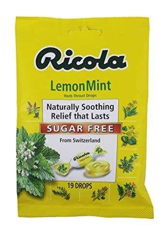 Ricola Sugar Free Herb Throat Drops Lemon Mint 19 Each (Pack of 4)