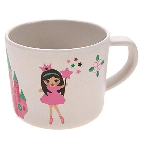 Vajilla de fibra de bambú para niños, 5 piezas/juego de vajilla para uso doméstico como complemento alimenticio para comer para beber leche(Castle princess)