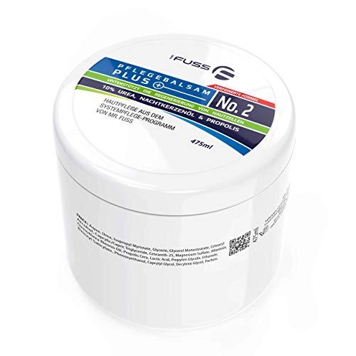 Mr. Fuss Hornhaut Creme Pflegebalsam Plus No. 2 Antihornhaut Fusspflege Creme mit 10% Urea Hautpflege Pflege sehr trockene Haut - 475ml