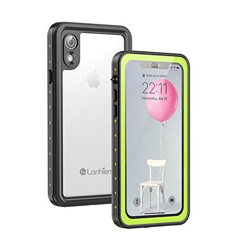 Lanhiem für iPhone XR Hülle, [IP68 Zertifiziert Wasserdicht] 360 Grad Handyhülle, Stoßfest Staubdicht und Schneefest Unterwasser Outdoor Schutzhülle mit Eingebautem Displayschutz, Grün
