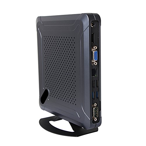 Fanless Mini PC,Desktop Computer,with Windows 10 Pro/Linux Ubuntu Support,Intel Celeron N2840,(Black),[HUNSN BH06],[COM/VGA/HDMI/LAN/6USB2.0/2USB3.0],(Barebone System)