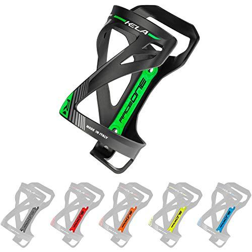 P4B   Flaschenhalter für Ihr Fahrrad in Black/Green Fluo - KELA   3 Verschiedene Wege um die Flasche einzufügen   Sehr Robustes Material   Mit Befestigungsschrauben