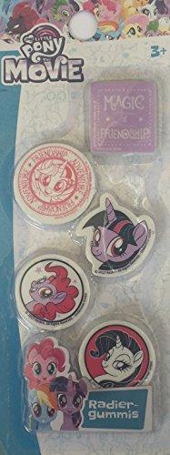 My-Little-Pony Radierer, Radiergummi Set - 5 Radierer mit Verschiedenen Motiven, Super für die Federmappe, als Mitgebsel für Partytüten, Schultüte, Adventskalender, ...